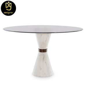 Custom made marble dining table