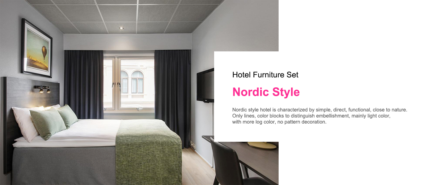 Custom made Nordic Style Hotel furniture set