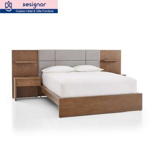 Factory hotel room furniture wood bed set