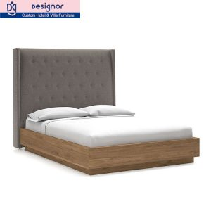 OEM hotel room wood bed furniture