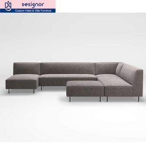 Custom made hotel sectional sofa set